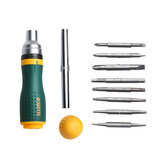 [New Version] SATA 19 in 1 Multifunctional Ratchet Screwdriver Set W/ 8 Bits Repair Tools Kit Form Xiaomi Youpin
