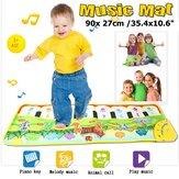 Babymusik Tæppe Mat Touch Play Tastatur Piano Musikalsk tæppe Sanggymnastik Børn