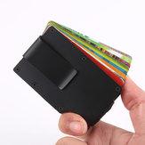 Men Women Carbon Fiber Slim Wallet Credit Card Holder RFID Blocking Anti Scan Metal Cash Clip
