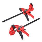 Barra de trabajo de trabajo de madera de apretón de velocidad de liberación rápida de 2 piezas de 4 pulgadas F Abrazadera Kit de clip esparcidor Abrazaderas Gadget herramienta
