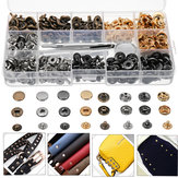 40/100 Set Rivets DIY Leather Craft Fasteners Buttons Copper Press Studs Silver Bronze Rivets With Tools