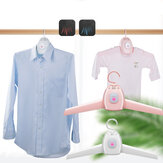 2 IN 1 Electric Clothes Drying Rack Portable Dryer Hanger Folding Travel Laundry Shoes Dryer