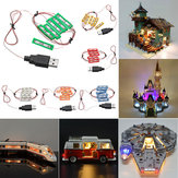 Kit fai da te universale luce a led Brick per Lego MOC Toys USB Port Blocks Accessori Decor