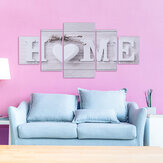 5 Panels Love HOME Wall Art Print Pictures Canvas Paintings Unframed Decoration