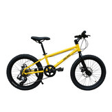 CMSBIKE 20inch 6-Speed Children Mountain Bike Double Disc Brakes Students Off-road BMX Bikes Youth Road Bikes for 6-12 Years Old Kids