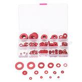 Suleve ™ 225-delig rood staal, papierring isolatie vlak pakking afstandhouders 15 maten assortiment