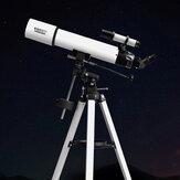 Telescópio astronômico refrativo profissional BEEBEST XA90 Abertura de 90 mm Telescópio equatorial alemão totalmente revestido