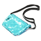 Sparkling Sequin Mermaid Makeup Bag Handbag Belt Glitter Dompet Purse Handbag Comestic Case