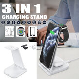 3 in1 Qi Wireless Fast Charger Dock Charging Stand For Apple Watch For iPhone Phone Airpods Pro