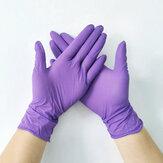100Pcs家庭用クリーニンググローブ、パウダー、ラテックス、パウダーフリー、使い捨て、Soft家庭用手袋