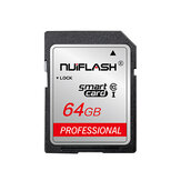 Carte SD Nuiflash 32GB Classe 10 SDHC 64GB Carte mémoire SDXC 128 Go SD Flash Carte pour appareil photo