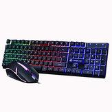104 toetsen Gaming-toetsenbord USB-kabel RGB-achtergrondverlichting Veelkleurig veranderend ergonomisch optisch toetsenbord en muis voor pc-gamerlaptop