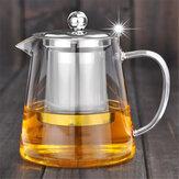 750 / 950ml Şeffaf Isıya Dayanıklı Cam Çay Pot Paslanmaz Çelik Infuser Filtresi