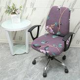 2 unidades / conjunto Capa elástica para cadeira de escritório Protetor de cadeira de computador Stretch Seat Slipcover Decoração de móveis de escritório doméstico
