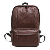 13L Leather Backpack Rucksack Laptop Shoulder Bag Outdoor Sports Travel