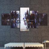 5StückeAbstrakteModerneStadtLeinwand Druck Gemälde Bild Home Wand-dekor Ungerahmt