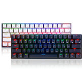 Royal Kludge RK61 61 Keys Mechanical Gaming Keyboard bluetooth Wired Dual الوضع RGB Keyboard