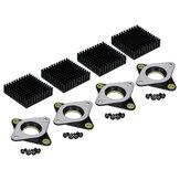 4 Stücke 53,8 * 53,8mm NEMA17 Schrittmotor Vibration Stoßdämpfer Dämpfer mit Schwarzem Kühlkörper für 3D Drucker CNC teil