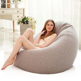 Lazy Bean Sofas Cover Chairs Filler Linen Cloth Lounger Seat Bean Bag Pouf Puff Couch Tatami for Living Room