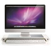 iMac MacBook ProAir用4ポートUSB充電器付きアルミニウムデスクトップモニタースタンド滑り止めノートブックラップトップライザー