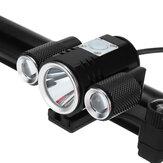 ĐènphaLEDXANES®XL341200LM USB Có thể sạc lại 150 ° Góc chiếu xạ 18650 Pin Đèn trước Xe đạp Cắm trại Đèn xe đạp