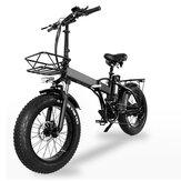 [EU Direct] TOODI TD-B2 48V 15AH 500W Børsteløs motor 20in Klapbar elcykel 40 km kilometer Skivebremse E Cykel
