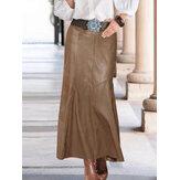 Женская кожаная застежка-молния сзади стильная повседневная юбка-русалка