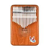GECKO 17 Keys Kalimbas Mbira African Mahogany Finger Thumb Piano Wooden Keyboard Percussion Musical Instrument Gift