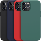 NILLKIN Bumpers Shockproof Anti-Fingerprint Smooth Soft Liquid Silicone Protective Case Back Cover for iPhone 12 Pro Max