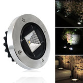 solare Powered White Warm White Impermeabile IP65 Sepolto Light Lawn lampada per Outdoor Yard