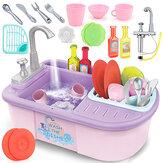 シミュレーションキッチン食器洗い機プレイシンク皿ふりプレイセット子供向け教育玩具ギフト