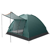 IPRee® 3-4 Person Double Layer Camping Tent With Double Door Outdoor Waterproof Awning Tent 125x200x200cm for Fishing Camping Party