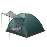 IPRee® 3-4 osobowy dwuwarstwowy namiot kempingowy z podwójnymi drzwiami Zewnętrzny wodoodporny namiot markizy 125x200x200cm na wędkowanie Camping Party