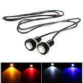12V 3W 18mm Car Motorcycle LED Eagle Eye Plate License Running DRL Tail Light Lamp