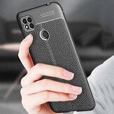 Bakeey para Xiaomi Redmi 9C Caso Litchi Padrão Couro PU à prova de choque + TPU Soft Protetor Caso Tampa traseira Não original