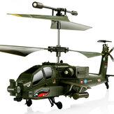 SYMA S109G 3.5CH Bestia RC Helicóptero RTF AH-64 militar Modelo Juguete para niños