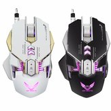 X300 7 Tasti 3200DPI LED variabile Luce Macro meccanica Definire Gaming Mouse