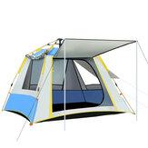3 Pencereli 2-3 Kişilik Tam Otomatik Kurulum Çadır UV Rezistans Büyük Aile Kampçılık Çadır Yağmur Geçirmez Rüzgar Geçirmez Outdoor Güneş Barınakları