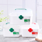 First Aid Kit Medicines Box Pill Storage Container Emergency Case