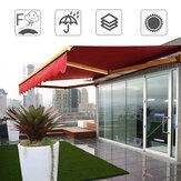 2x1.5M extérieur jardin patio auvent couverture auvent pare-soleil abri imperméable auvent résistant aux UV