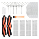 18pcs Replacements for Xiaomi Mijia G1 Vacuum Cleaner Parts Accessories Main Brush*2 Side Brushes*6 HEPA Filter*4 Mop Clothes*4 Cleaning Tool*1 Yellow Cleaning Tool*1 Non-original