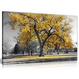 1 Stück Leinwand Malerei gelbe Blätter Big Tree Wand dekorative Kunstdruck Bild rahmenlose Wandbehang Home Office Dekoration