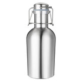 1L Single Layer Stainless Steel B eer W-ine Beverage Pot Bottles Barrel B-eer Pot