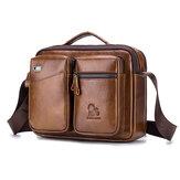 Sacàbandoulièreencuirvintage pour hommes Business Bag à main Messenger Crossbody Sac de rangement de documents