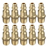 10Pcs Brass Quick Coupler 1/4 Inch NPT Male Milton Type Quick Air Connector Fittings