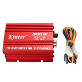 Kinter MA150 12V Mini 2CH HiFi Stereo Car Power Amplifier MP3 Audio Speaker with USB