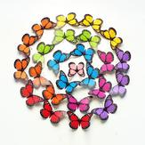 10Pcs el 12cm 3D colorea el refrigerador Imán de la etiqueta engomada de la pared de la mariposa Applique del arte de la decoración casera