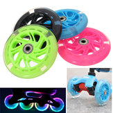 120mm LED Flash Light Up Wheels per pattini in linea scooter 2 Cuscinetto ABED-7