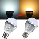 B22/E27 5W 10 SMD 5730 LED Globe Bulb Non-Dimmable Warm White/White Lamp AC 110-240V