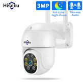 Hiseeu WHD303 3MPWIFI屋外カメラ1536p5xデジタルズームPTZIPオーディオカメラP2POnVIFCCTVモニタリングワイヤレスCCTVシステム
